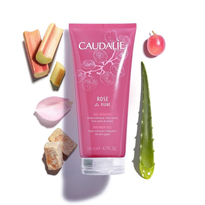 CAUDALIE Gel Douche Rose de Vigne - Tube 200 ml
