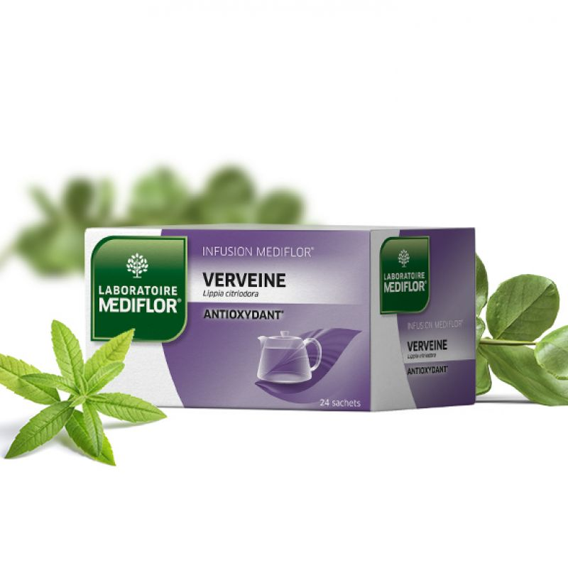 MEDIFLOR Infusion VERVEINE Anti-oxydant - 24 sachets