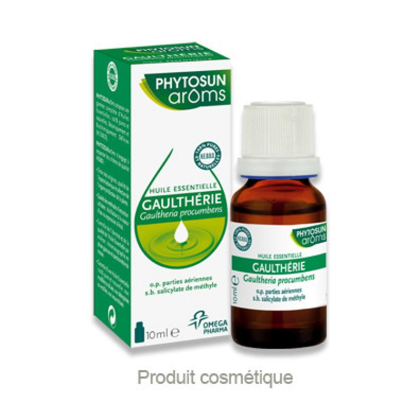 Huile essentielle GAULTHERIE - Gaultheria procumbens - Fl/10ml - PHYTOSUN AROMS