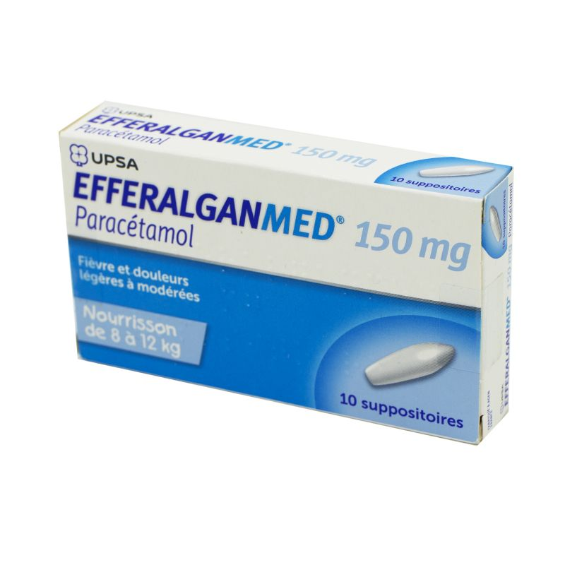 Efferalganmed 150 mg - 10 suppositoires