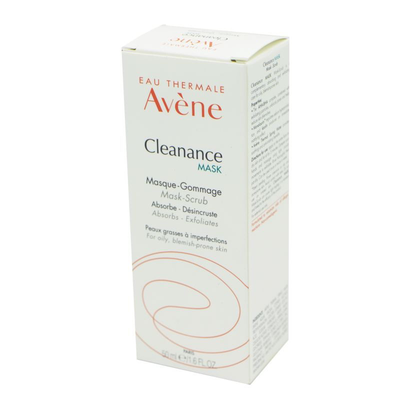 AVENE CLEANANCE MASK - Masque Gommage - Soin du Visage - Peaux grasses à Imperfections - T/50ml