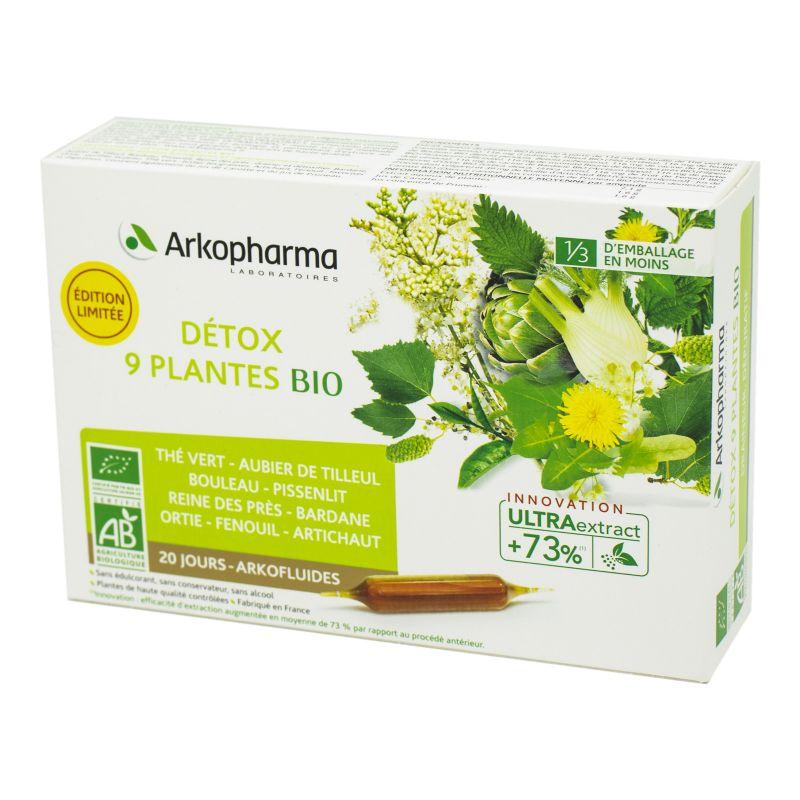 Arkopharma - ARKOFLUIDES Détox 9 Plantes BIO - Complément ...
