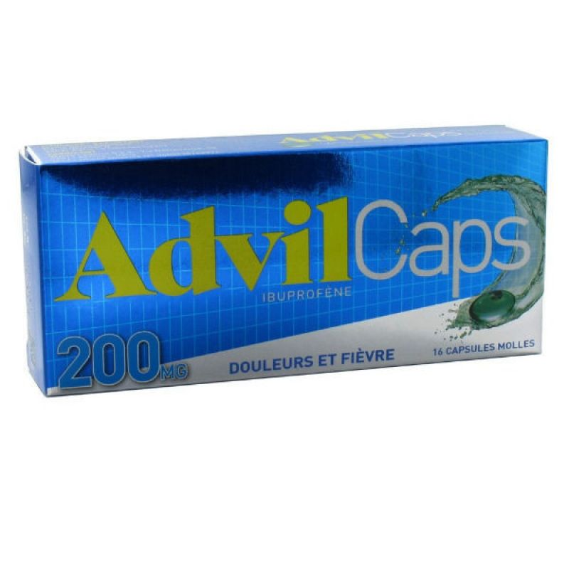 Advilcaps 200 mg, 16 capsules molles