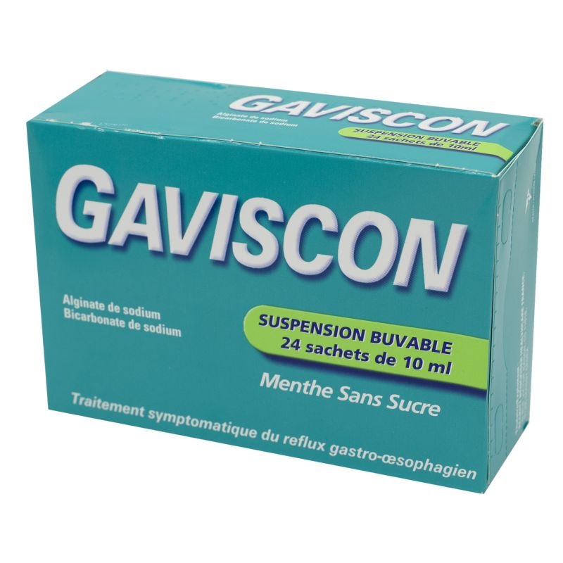 Gaviscon, suspension buvable- 24 sachets-doses de 10 ml