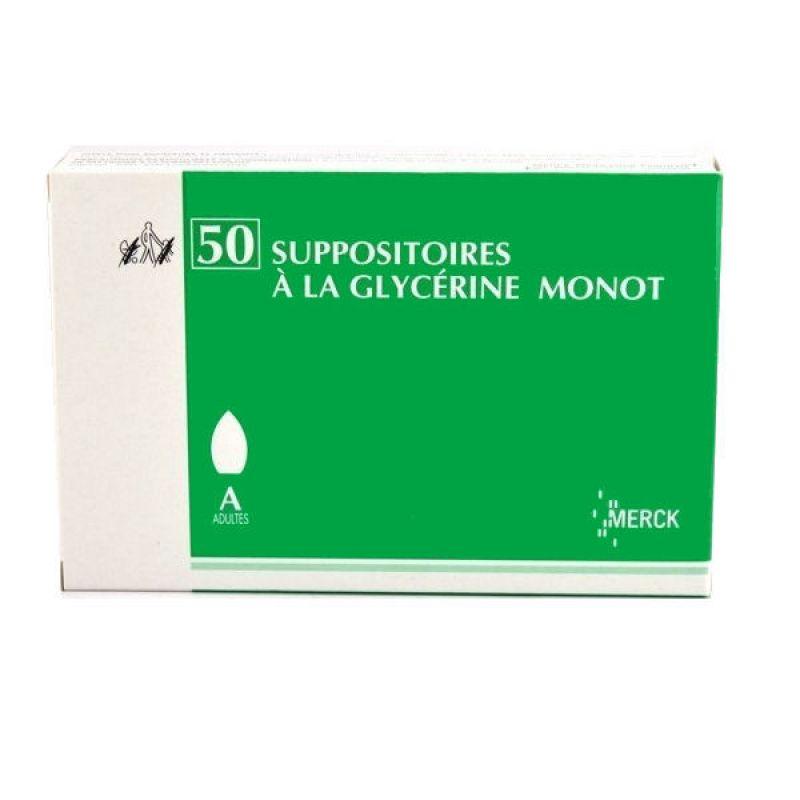 SUPPOSITOIRES A LA GLYCERINE MONOT, adultes, 50