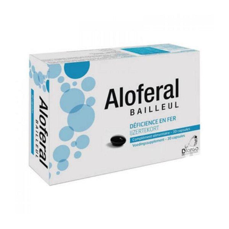 Aloferal 30 Capsules Complement Alimentaire Chute De Cheveux