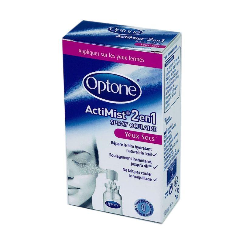 OPTONE ActiMist 2 en 1 Yeux Secs + Irrités - Spray Oculaire Liposomial -  Spray  cfaaf1afd2f7