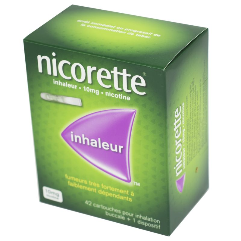 NICORETTE INHALEUR 10 mg, 42 cartouches + 1 dispositif