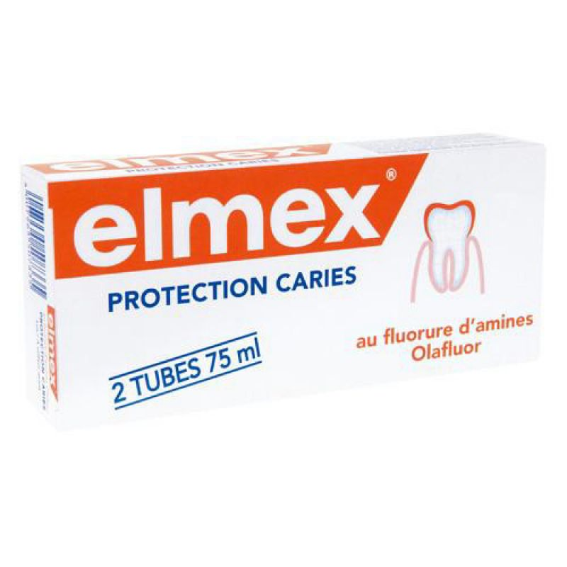 ELMEX PROTECTION Caries Adultes - Duo Dentifrices - Lot de 2 - T/75ml x2 - GABA