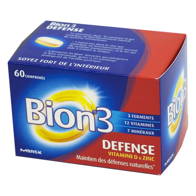 Merck Bion 3 Defense Adultes 60 Comprimes Complement Alimentaire Aid