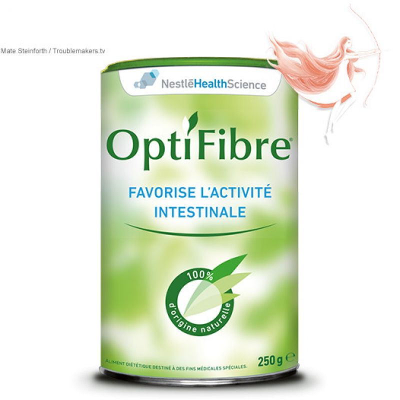 OPTIFIBRE Poudre Anti-Constipation 100% d'origine naturelle - Pot/250g - NESTLE