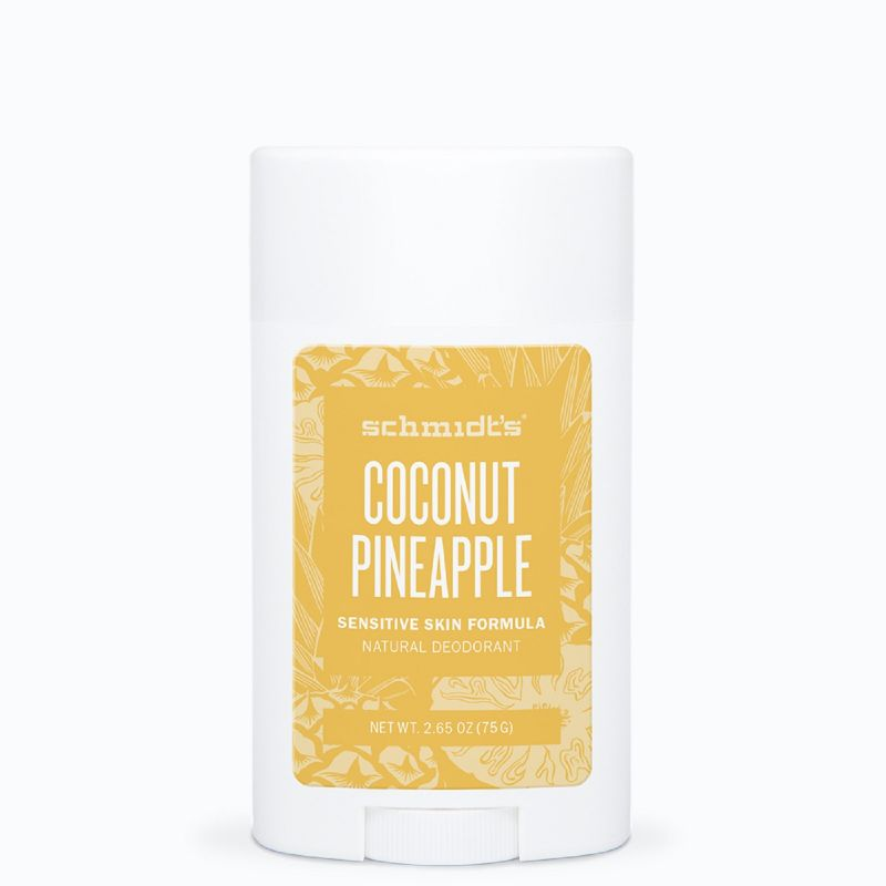 SCHMIDT'S Sensitive Stick Coconut Pineapple 58ml - Déodorant Naturel Peaux Sensibles, Certifié Vegan