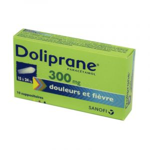 Doliprane 300 mg, 10 suppositoires