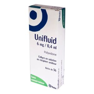 Unifluid 6 mg/ 0,4 ml, collyre - 36 unidoses