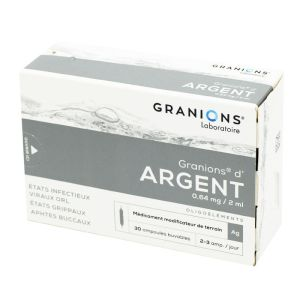 GRANIONS D'ARGENT, solution buvable - 30 ampoules 2 ml