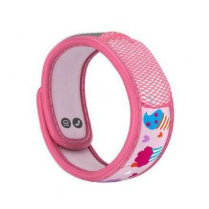 PARAKITO KIDS Bracelet CUPCAKE - Bracelet Anti Moustiques Rechargeable Couleur Rose Kid's Collection