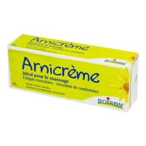 BOIRON Arnicrème Massage à L' Arnica - Fatigue Musculaire, Sensation de Courbatures - T/70g