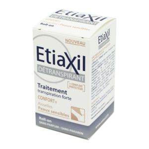 ETIAXIL Détranspirant Aisselles Confort+ Traitement Transpiration Forte - Roll-On/15ml - COOPER