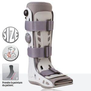 DONJOY Aircast AirSelect Standard - Botte d' Immobilisation Bilatérale à Coque Rigide Pneumatique