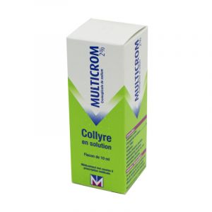 Multicrom 2 % collyre, Flacon 10 ml