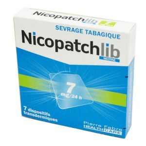 Nicopatchlib 7mg, dispositif transdermique transparent - B/7