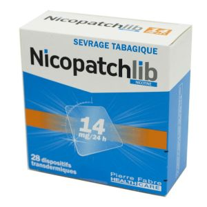Nicopatchlib 14 mg, dispositif transdermique transparent - B/28