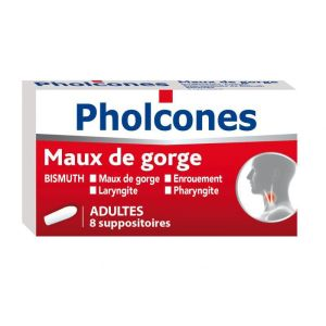 Pholcones Bismuth Adultes, 8 suppositoires