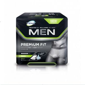 TENA MEN Premium Fit L (Large) Level 4 - Slip/Protection Absorbante Homme Jetable - Bte/10