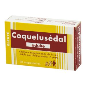 Coquelusedal Adultes, suppositoires - Boite de 10