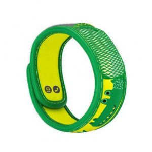 PARAKITO KIDS Bracelet CROCODILE - Bracelet Anti Moustiques Rechargeable Couleur Verte Kid's Collect
