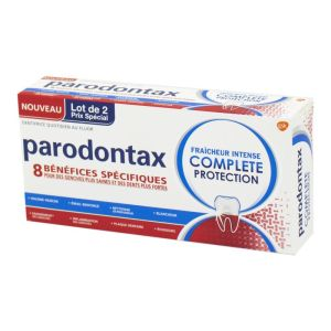 PARODONTAX Complete Protection - Lot de 2 Dentifrices Quotidiens au Fluor Dès 12 Ans - 2x T/75ml