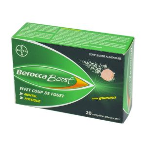 BEROCCA BOOST - Guarana Vitamines B, C - Bte/20 comprimés effervescents - BAYER