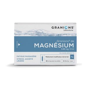 GRANIONS DE MAGNESIUM, solution buvable - 30 ampoules 2 ml