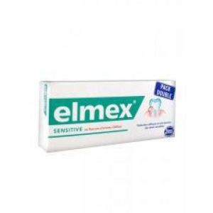 ELMEX SENSITIVE Lot de 2 - Dentifrice au fluorure d' amines Olafluor - T/75ml x2 - GABA
