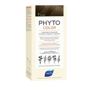 PHYTOCOLOR 7 Blond - Kit de Coloration Permanente Enrichie en Pigments Végétaux