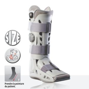 DONJOY Aircast AirSelect Elite - Botte d' Immobilisation Bilatérale à Coque Rigide Pneumatique