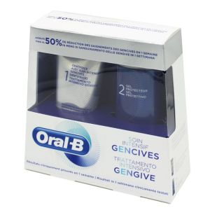 ORAL B Soin Intensif Gencives - 1 Dentifrice 5ml + 1 Gel Protecteur 63ml