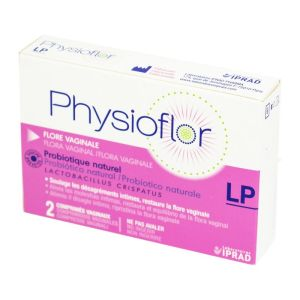 PHYSIOFLOR LP Flore Vaginale - Comprimé Vaginal à Libération Prolongée - Probiotique Naturel - Bte/2
