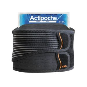 SALVA ACTION DUO THERM Hauteur 26cm - Ceinture Lombaire Actipoche, Double Sangle Abdominale