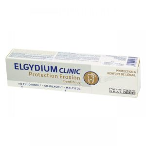 ELGYDIUM CLINIC Protection Erosion Dentifrice - Protection et Renfort de l' Email dès 6 Ans - T/75ml