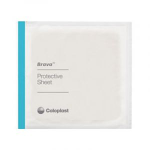 COLOPLAST BRAVA Plaque de Protection Cutanée 15 x 15 cm - Protection de la Peau Péristomiale (Colost