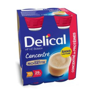 DELICAL CONCENTRE Noisette 4x 200ml - Boisson HP/HC - Dénutrition
