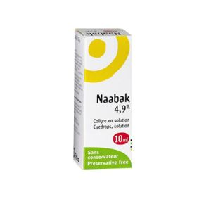 NAABAK 4,9 %, collyre - Flacon 10ml