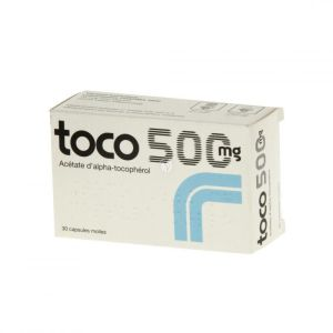Toco 500 mg, 30 capsules molles