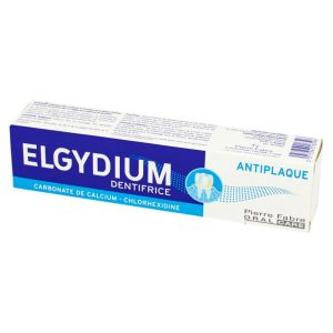 ELGYDIUM ANTI PLAQUE 75ml Dentifrice - Carbonate de Calcium, Chlorhexidine