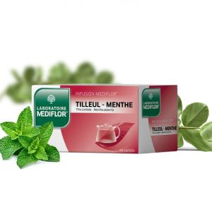 MEDIFLOR Infusion TILLEUL-MENTHE - 24 sachets