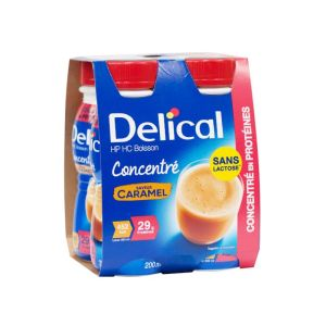 DELICAL CONCENTRE Caramel 4x 200ml - Boisson HP/HC - Dénutrition