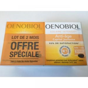 Lot de 2 OENOBIOL Solaire Intensif Anti Age Capital Jeunesse  Bte/30 Capsules x2