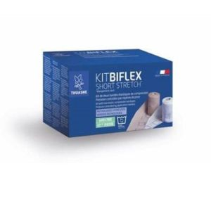 Kit BIFLEX Short Stretch - Kit de Bandes de Compression Elastiques à Allongement Court - Anti-Oedème