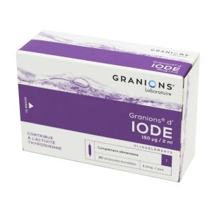 GRANIONS D'IODE, solution buvable - 30 ampoules 2 ml